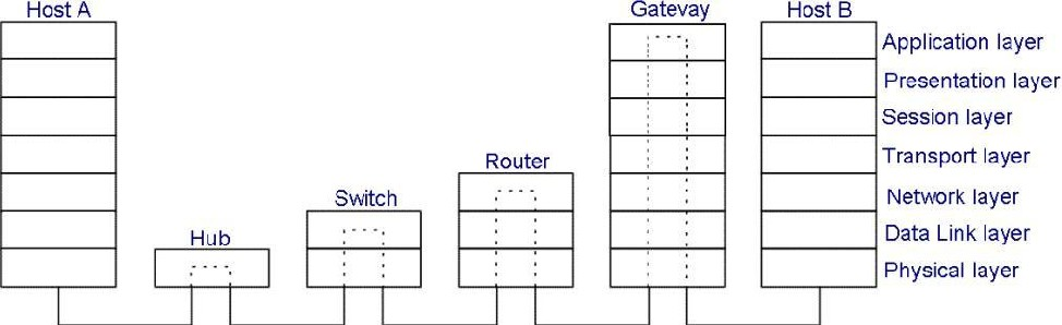 Networking devices and OSI model